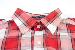 Rood geruit overhemd Royalty-vrije Stock Afbeeldingen