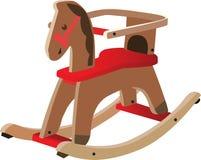 Rood geschilderd houten paard Royalty-vrije Illustratie