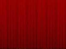 Rood gesloten gordijn stock afbeelding