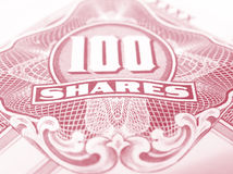 Rood gewone aandelencertificaat Stock Foto's