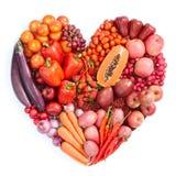 Rood gezond voedsel Stock Afbeeldingen