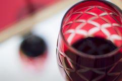 Rood glas wijn Royalty-vrije Stock Afbeelding
