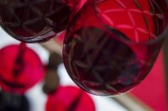 Rood glas wijn Royalty-vrije Stock Foto's