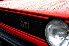 Rood Golf 1 GTI Stock Afbeeldingen