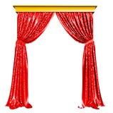 Rood Gordijn Royalty-vrije Stock Afbeelding