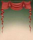 Rood gordijn vector illustratie