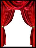 Rood gordijn stock illustratie