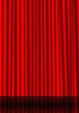 Rood gordijn Royalty-vrije Stock Foto's