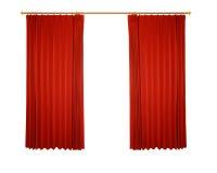 Rood gordijn (met weg) Stock Foto