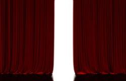 Rood gordijn in theater royalty-vrije illustratie
