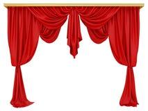 Rood gordijn van een theater royalty-vrije illustratie
