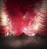 Rood gordijnentheater stock foto