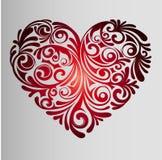 Rood Gradiënthart - Polynesia Tatoegering Royalty-vrije Stock Foto's