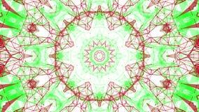 Rood-green geanimeerde abstracte achtergrond 3d geef terug stock illustratie
