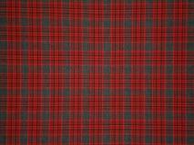 Rood-grijs doekpatroon Stock Foto