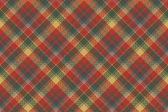 Rood groen de textuur textiel naadloos patroon van de controleplaid royalty-vrije illustratie