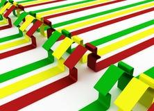 Rood, groen en geel metafoorhuis Royalty-vrije Stock Afbeeldingen