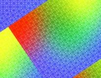 Rood Groen Geel Blauw Geometrisch behang Als achtergrond Stock Foto's