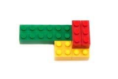 Rood, groen, geel blok van de ontwerper Stock Afbeeldingen