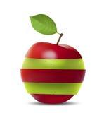 Rood-groene Appel Stock Illustratie