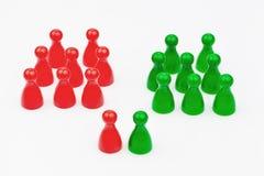 Rood-groene coalitieoverheid royalty-vrije stock foto