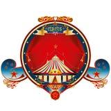 Rood groot hoogste circuskader Royalty-vrije Stock Afbeelding