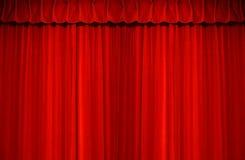 Rood groot luxe schoon fluweel Stock Afbeelding