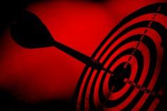 Rood grungedoel met pijl Stock Afbeeldingen