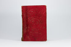 Rood grungy boek Stock Foto