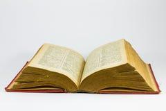 Rood grungy boek Stock Foto's