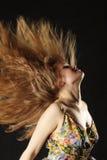 Rood haar in lucht Stock Afbeelding