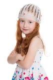 Rood haired meisje van zes jaar Royalty-vrije Stock Foto's