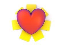 Rood hart royalty-vrije illustratie