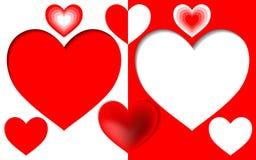 Rood hart Royalty-vrije Stock Foto's