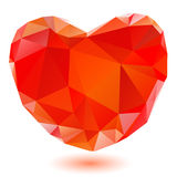 Rood hart Stock Foto's