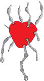 Rood hart Royalty-vrije Stock Afbeeldingen