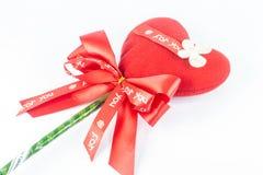 Rood hart in de Dag van Valentine Royalty-vrije Stock Foto