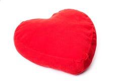 Rood hart gevormd hoofdkussen Royalty-vrije Stock Foto's