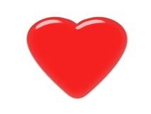 Rood Hart, glaseffect, klassiek liefdesymbool stock illustratie