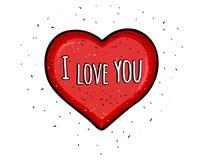 Rood hart I Liefde u vector illustratie