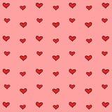 Rood hart met roze behang groot voor om het even welk gebruik Vector eps10 Royalty-vrije Stock Foto