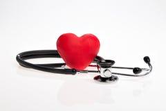 Rood hart met Stethoscoop Royalty-vrije Stock Foto