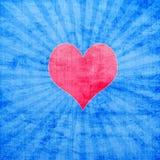 Rood hart met zonnestraal Royalty-vrije Stock Foto's