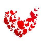 Rood hart, op een wit Stock Afbeelding