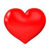 Rood hart op een witte achtergrond Stock Afbeelding