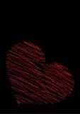 Rood hart op een zwarte achtergrond vector illustratie