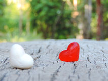 Rood hart, Valentine-achtergrond Stock Foto