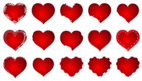 Rood Hart Valentine Love Logo Vector royalty-vrije stock fotografie