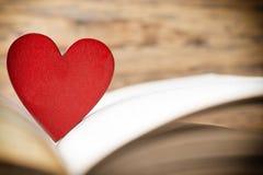 Rood hart van het boek Geplaatste vector: Modieuze 2014 paarden Stock Afbeelding