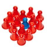Rood hart van spelstukken Stock Foto's